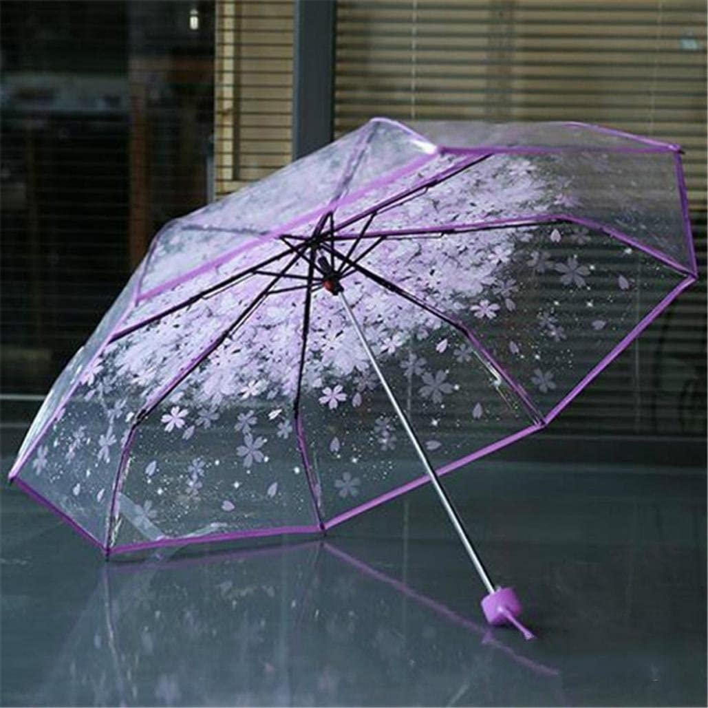 Blue ❤Umbrellas Smdoxi Transparent Clear Bubble Dome Umbrella for Wind and Heavy Rain With Free Carrying Bag❤