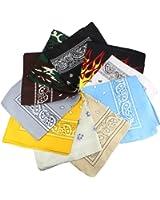3er 6er, 9er oder 12 Pack Bandanas mit original Paisley Muster | Farbe nach Wahl