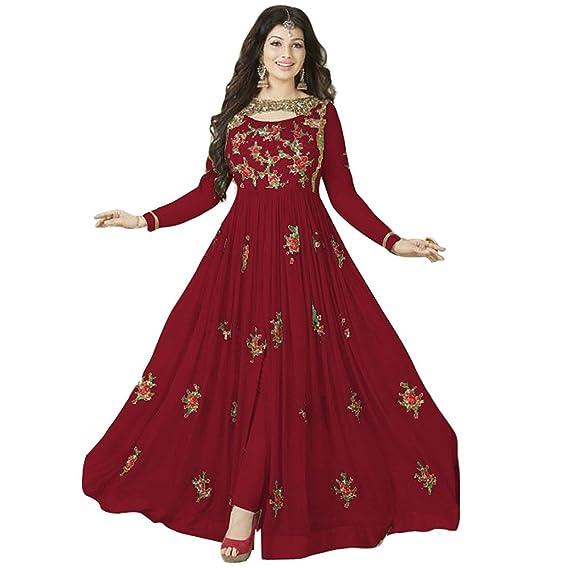 Buy Krisha Presents Georgette Fabric Santoon Bottom Fabric Nazneen Duptta Fabric Maroon Color Embroidery Work Designer Salwar Suit For Women S At Amazon In,Popular Fashion Designer Brands