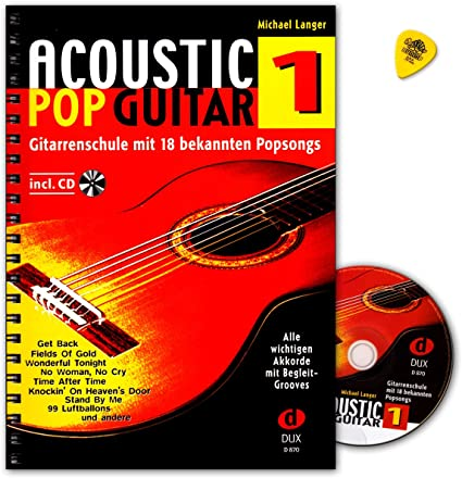 Acoustic Pop Guitar banda 1 con CD y púa – Edition DUX dux870 ...