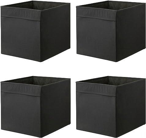 Ikea DRONA – Caja, Negro 33 x 38 x 33 cm (para Expedit Juego de estantes, 4 unidades, tejido, negro, solo pack: Amazon.es: Hogar
