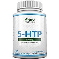 5-HTP 200 mg Dubbele Kracht Supplement - 180 5-HTP Tabletten - Voorraad voor Zes Maanden   Krachtige 5-HTP…