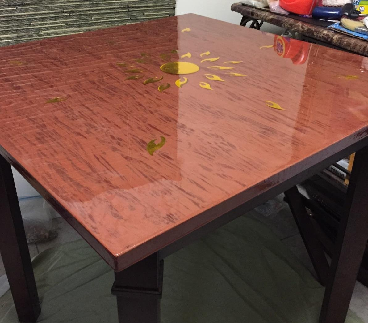 Lovely Crystal Clear Bar Table Top Epoxy Resin Coating For Wood Tabletop   1  Gallon Kit: Amazon.com: Industrial U0026 Scientific