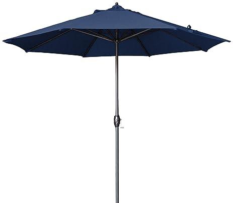 Exceptional California Umbrella 9u0027 Round Aluminum Market Umbrella, Crank Lift, Auto  Tilt, Bronze