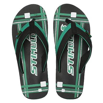 fdab0ef85 PARAGON Stimulus Men s Green Flip-Flops  Buy Online at Low Prices in ...