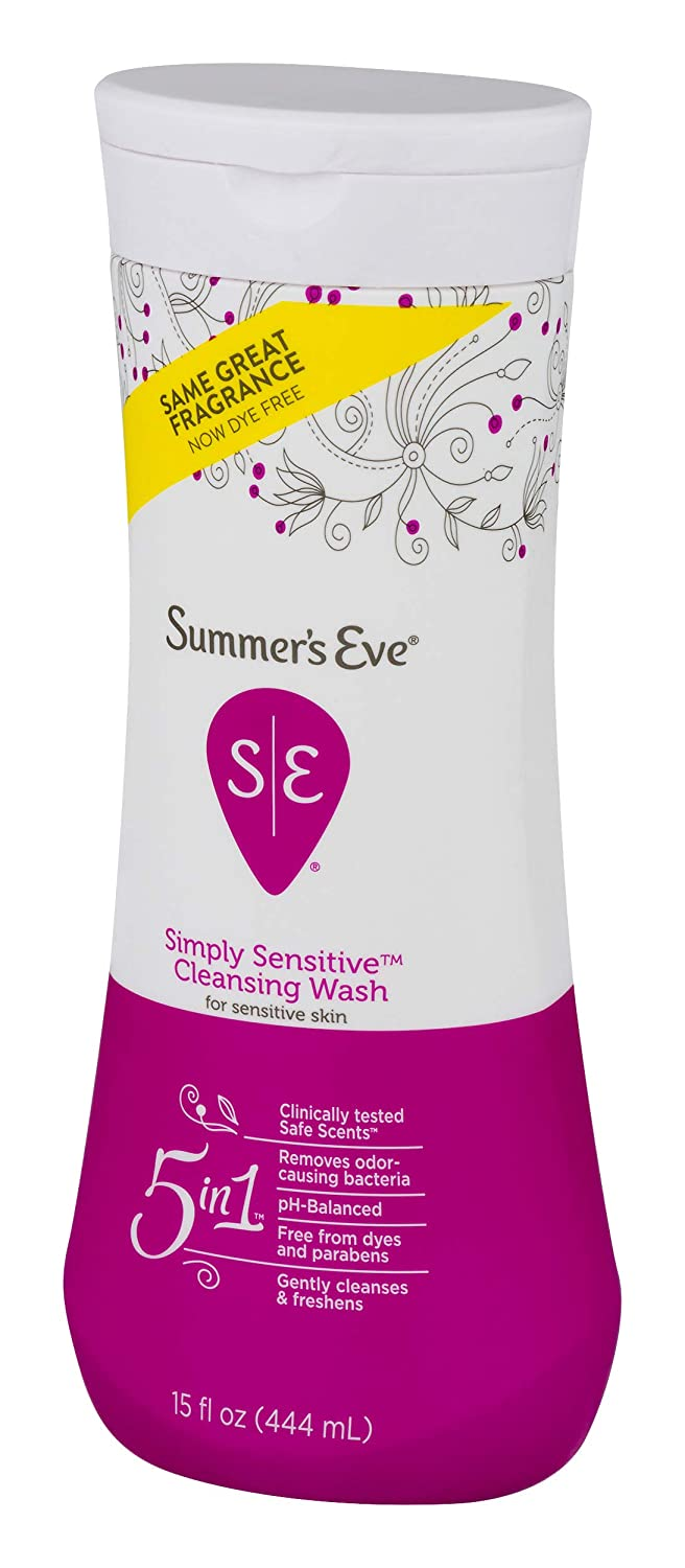 Summer's Eve Cleansing Wash | Simply Sensitive | 15 Ounce | Pack of 3 |  pH-Balanced, Dermatologist &