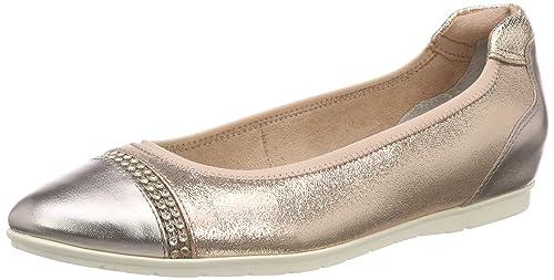 Braune Ballerinas von Tamaris in Größe 40, Leder Schuhe