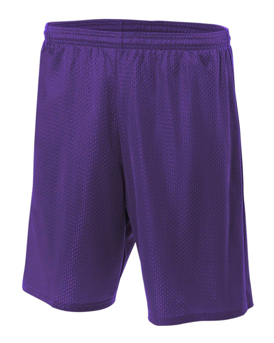 A4 NB5301-PUR Lined Tricot Mesh Shorts, XX-Small, Purple