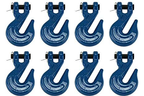 """8 pack WLL 7100 lbs 3//8/"""" G70 Clevis Grab Hooks"""