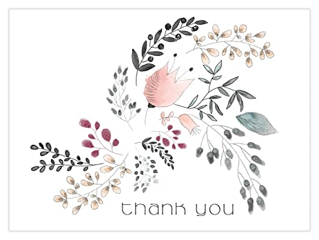 floral thank you cards by luxye 36 cute flower thank you note cards and envelopes