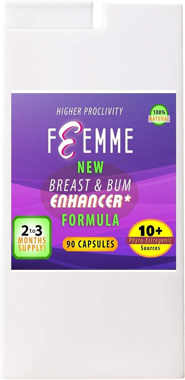 Femme - Pastillas para agrandar el pecho, para mujeres y para hombres, curvas femeninas para todos los sexos. Generalmente solo se necesita 1 cápsula ...