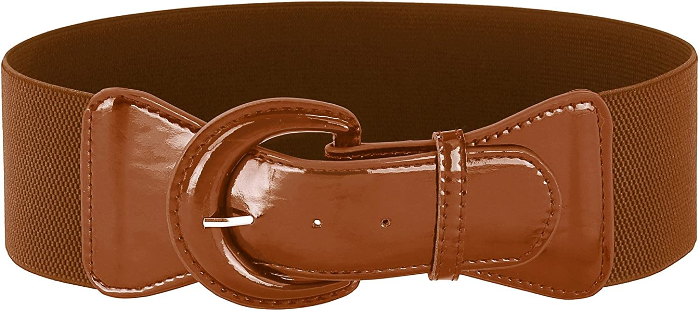 GRACE KARIN Women's Wide Stretchy Cinch Belt 3 Inch Vintage Chunky Buckle Belts S-XXXXL