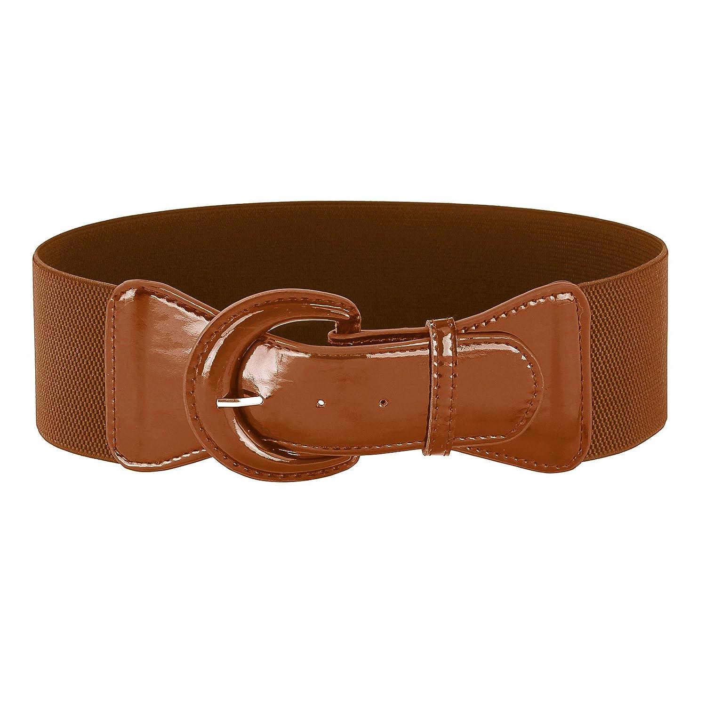 GRACE KARIN Women's Wide Stretchy Cinch Belt Vintage Chunky Buckle Belts S-XXXXL CL010469JS