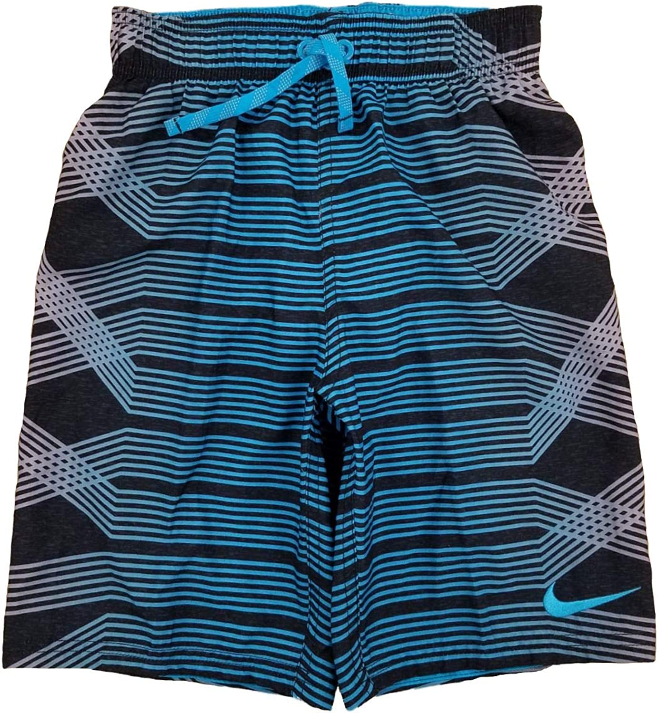 Nike Boys Black /& Blue Striped Swim Trunk Board Shorts
