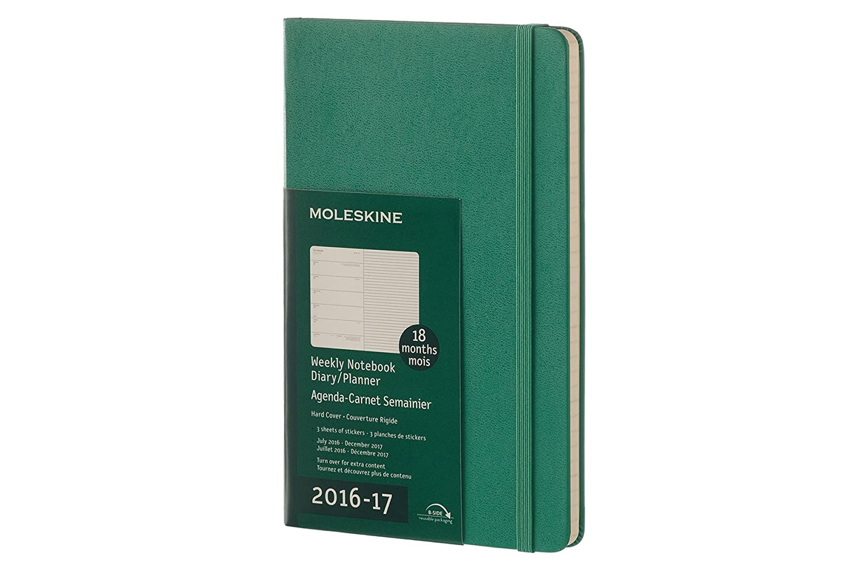 Moleskine DHK1318WN3Y17 - Agenda semanal 18 meses, L 13 x 21 ...