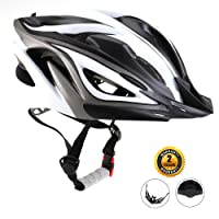 EASECAMP Lightweight Bike Helmet for Adult Men and Women with Detachable Liner and Adjustable Strap, CPSC Certified