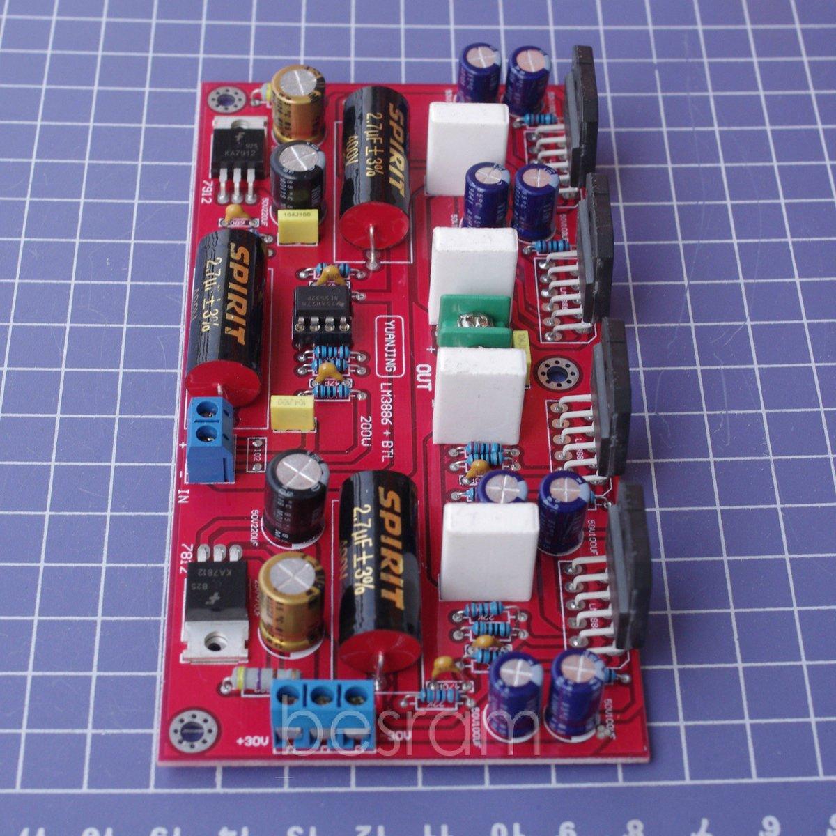 Lm3886 4 Ne5532 Btl Audio Power Amplifier Board 150w Parallel 200w Electronics