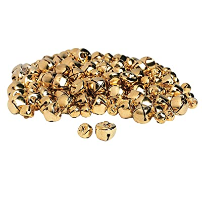 Gorgeous Gold Jingle Bells- 200 Pc - Crafts for Kids and Fun Home Activities: Toys & Games