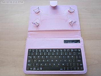 Funda de transporte para teclado con Bluetooth rosa y soporte ...