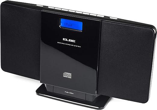 Elbe HIFI-1024-IP - Micro cadena con CD / MP3, USB, iPhone/iPod Docking, color negro: Amazon.es: Electrónica