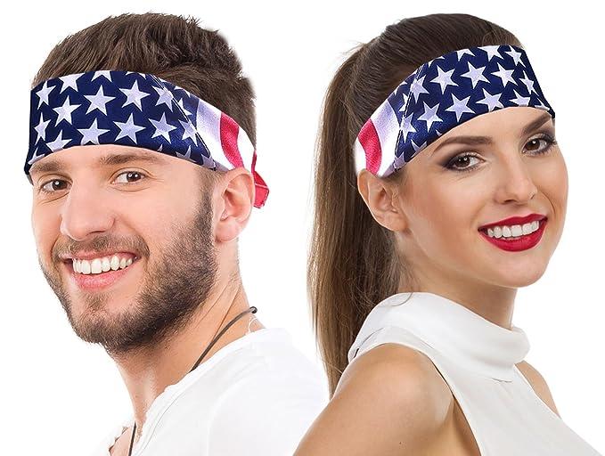 Amazon.com  American Flag Bandana Headband US Bandana For Men USA ... 1e6c8863a08