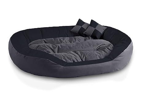 BedDog 4 en 1 Saba Antracita/Gris XXL Aprox. 110x80cm colchón para Perro,