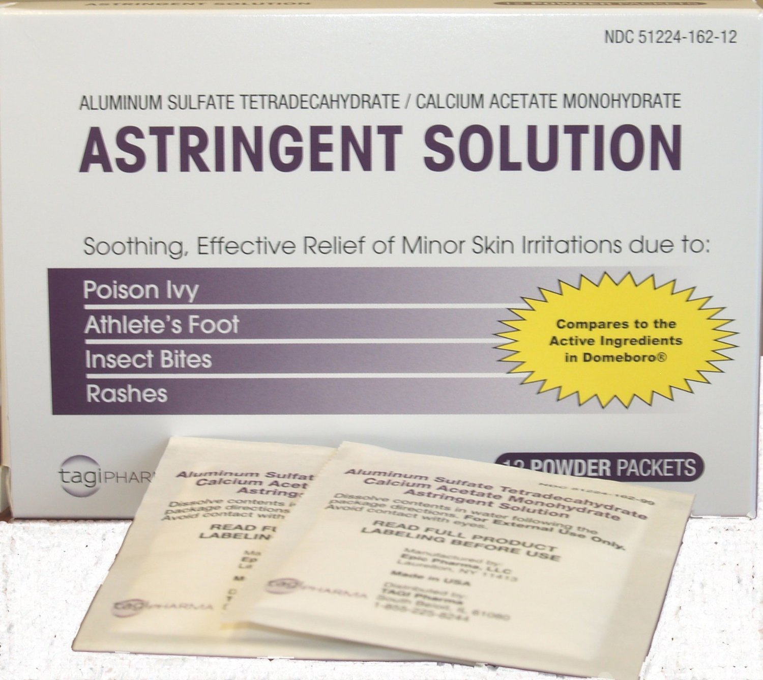 Aluminum Acetate Astringent Solution 12ct. , Pack of 3 by Aluminum Acetate