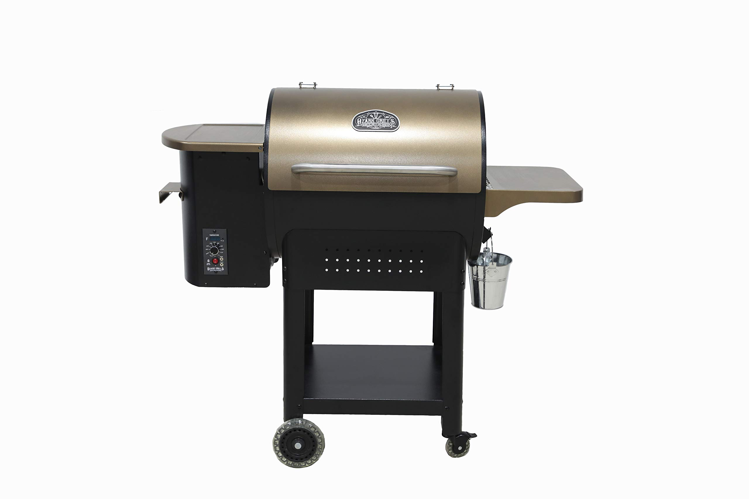 Ozark Grills - the Stag Wood Pellet Grill and Smoker with 2 Temperature Probes, 23 Pound Hopper, 480 Square Inch Cooking Area by Ozark Grills