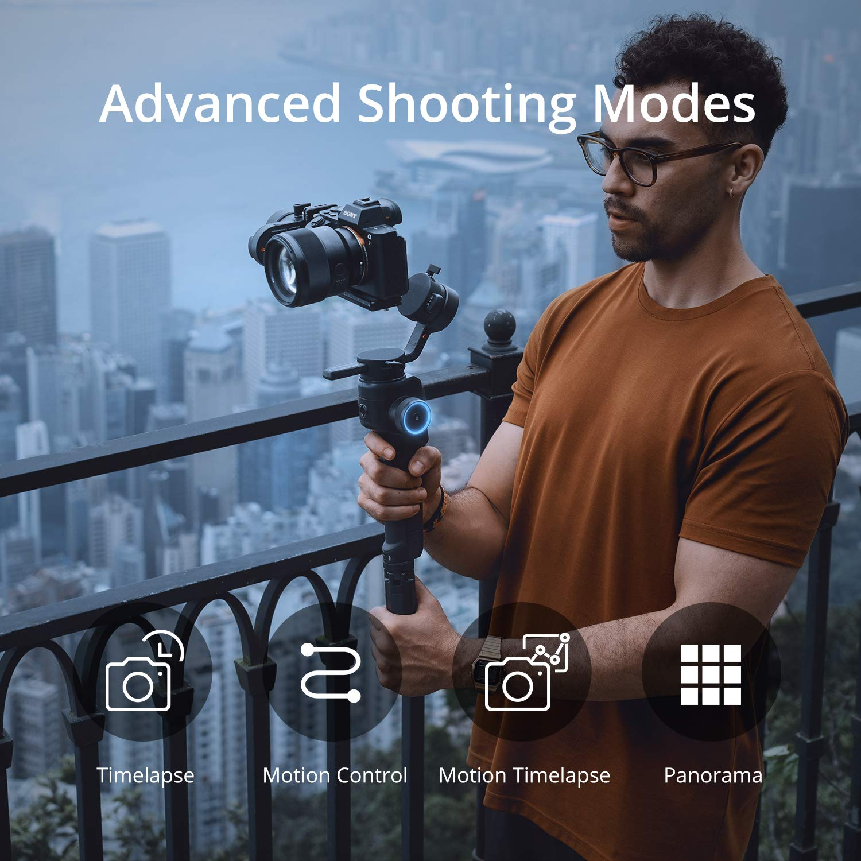 adatto per 4 K BMPCC peso cardanico 950 g MOZA Aircross 2 stabilizzatore cardanico a 3 assi per fotocamere compatte carico 3,2 kg Canon EOS R Sony a Series