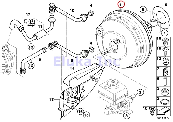 Amazon Com Bmw Genuine Power Brake Pedal Unit Depression Brake