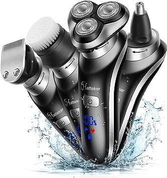 Hatteker Afeitadora eléctrica para hombres Afeitadora de barba ...