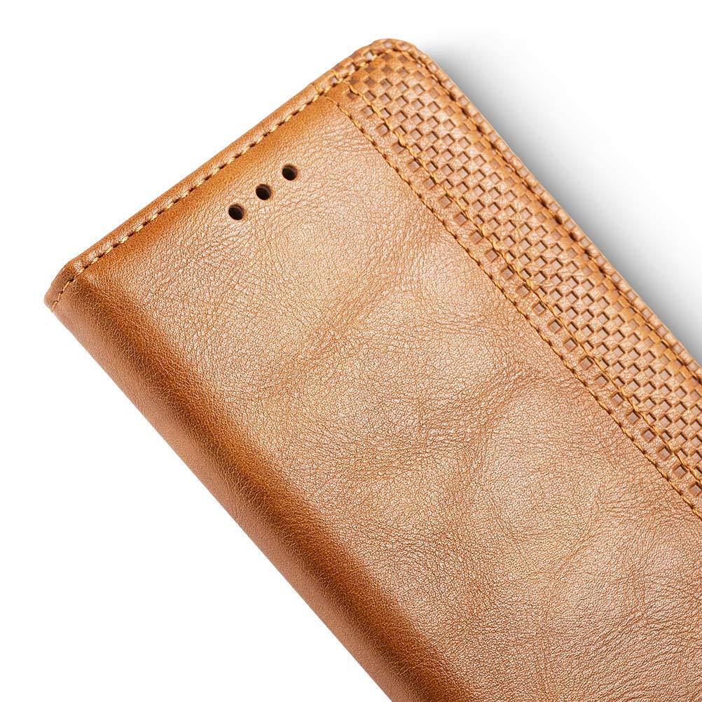 iHOY Funda para Samsung Galaxy Xcover 4s, Cuero PU Retro y Elegante Cubierta Suave con Cierre Magn/ético Incorporado Cuaderno