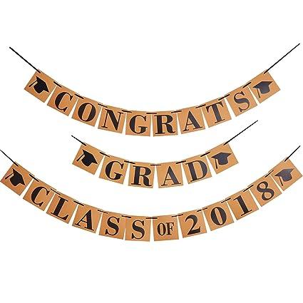 amazon com maxdot graduate banner set congrats grad and class of