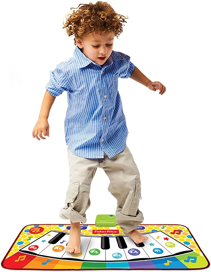 Fisher-Price-KFP6092 Dancin Tunes Music Mat, Multicolor (Mattel KFP6092): Amazon.es: Juguetes y juegos