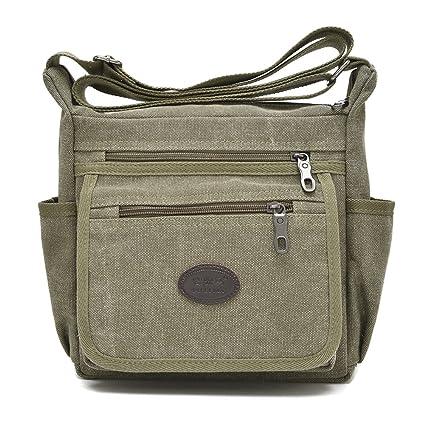 Amazon.com  Toniker Canvas Small Messenger Bag Casual Shoulder Bag ... 34da1ba91dace