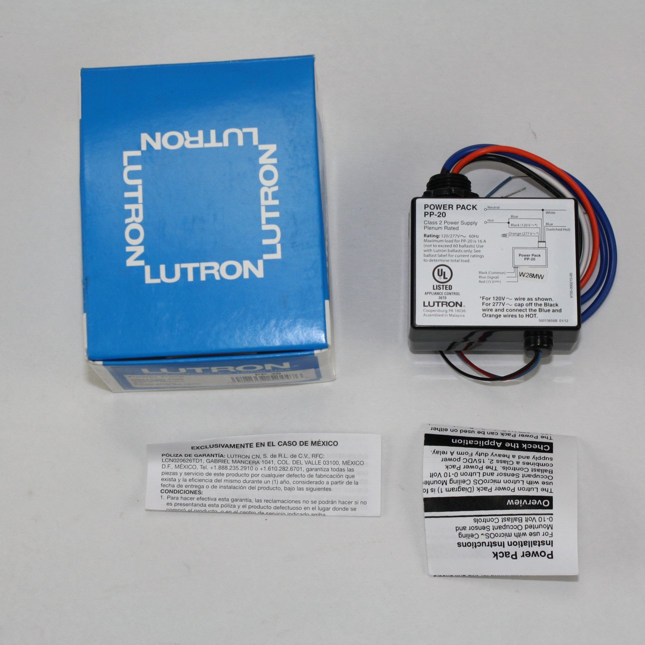 Lutron PP-20 Power Pack For Lutron Ballast Only 120/277V 16AMP 16A ...