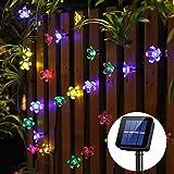 Panpany Solar Lights Outdoor, 50 LED Solar String Lights, Waterproof 22 Feet Fairy Lights Solar Powered (Multi-Color)