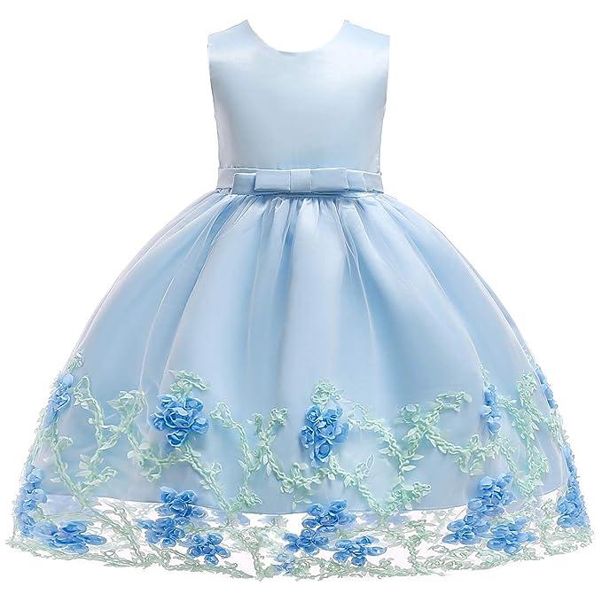624c697b7 Flower Girl Dress Party Dresses for Girls Wedding Sleeveless Silk Chiffon  Bow Tie Baby Tutu Lace