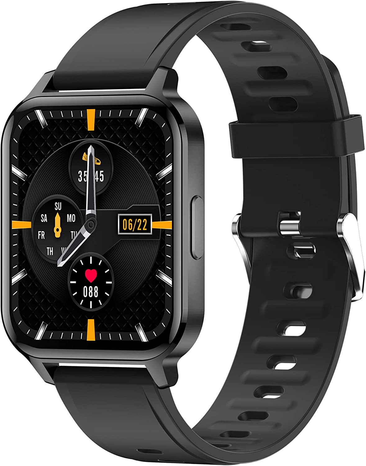 Smart Watch, 1.7 inch Activity Tracker with Heart Rate and Sleep Black