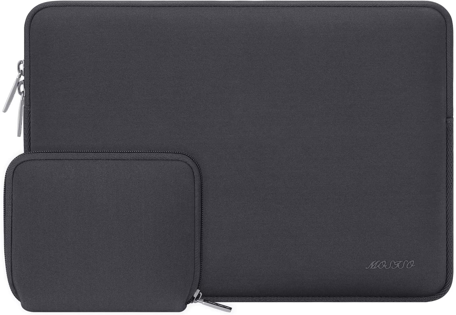 MOSISO Laptop Sleeve Compatible with 13-13.3 inch MacBook Pro, MacBook Air, Notebook Computer, Water Repellent Neoprene Bag with Small Case, Space Gray