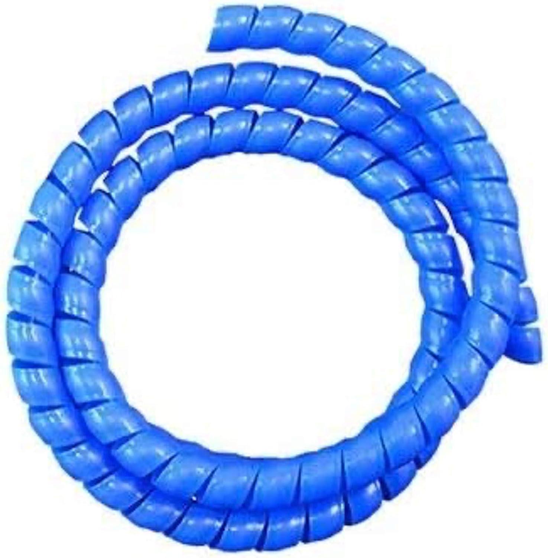 PC Escritorio Hogar 2M Espiral Cubre cable Bridas Cortable Antienvejecimiento Flexible Recoge Cables para Escritorio Organizador Cables Oficina azul