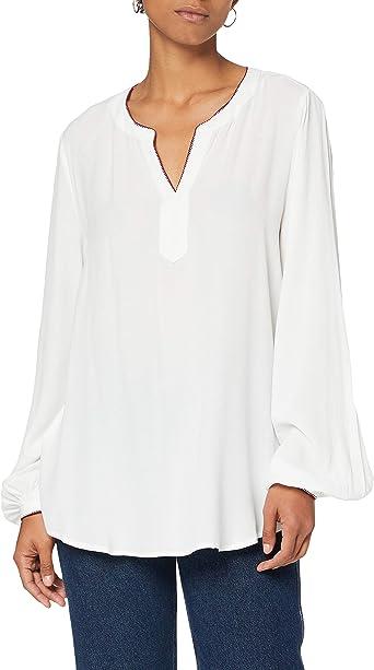 Tommy Hilfiger Aelin V-Neck LS Blouse Camisa para Mujer