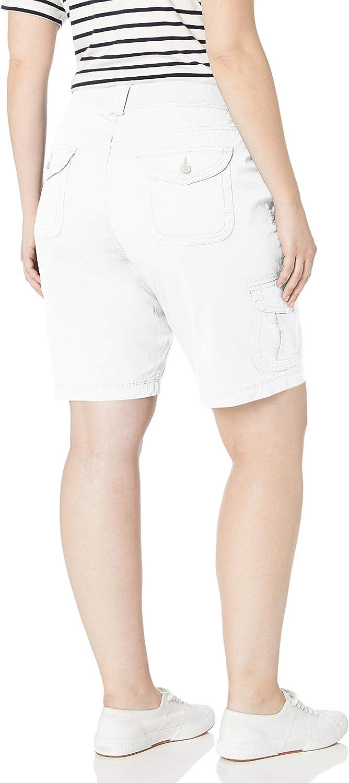 Lee Uniforms Womens Plus-Size Relaxed Fit Diani Knit Waist Bermuda Short