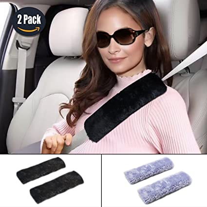 Amazon.com: GAMPRO Car Seat Belt Cover Pad, 2-Pack Soft Faux ...