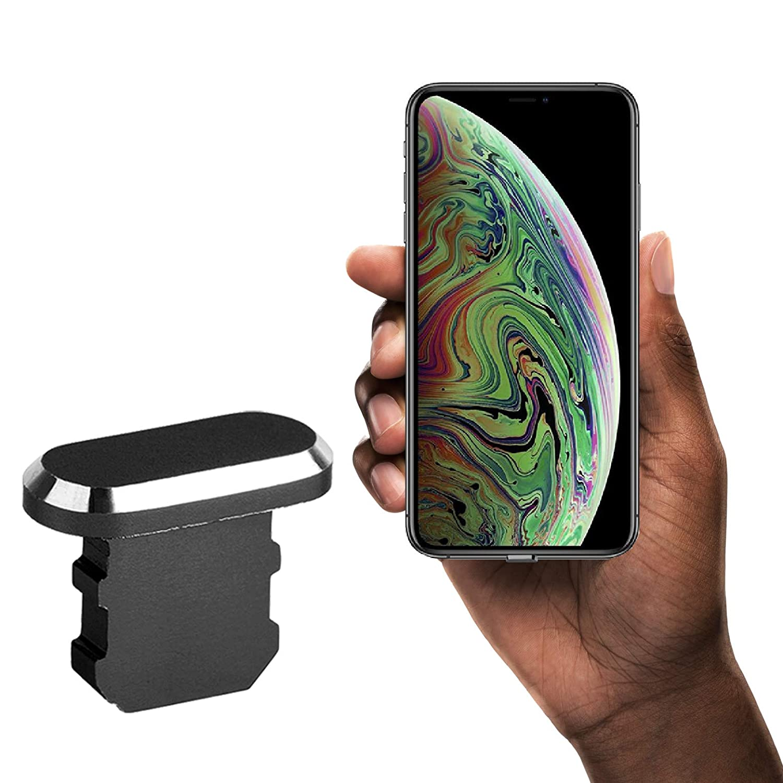 innoGadgets Taponés Antipolvo iPhone (iPhone 7/8/X/Xs/Xr, Negro)
