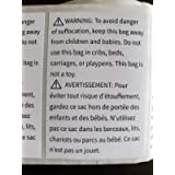Suffocation FBA Warning Labels for Child Safety, French and English, 500 Labels, 5x7.5 cm