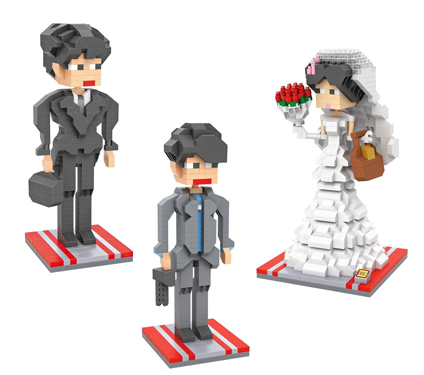 Micro Brickland Wedding Building Brick Kit, Bride and Groom Mini-figures Play Set 3-D Design Small Size Building Brick (1770 Pieces)