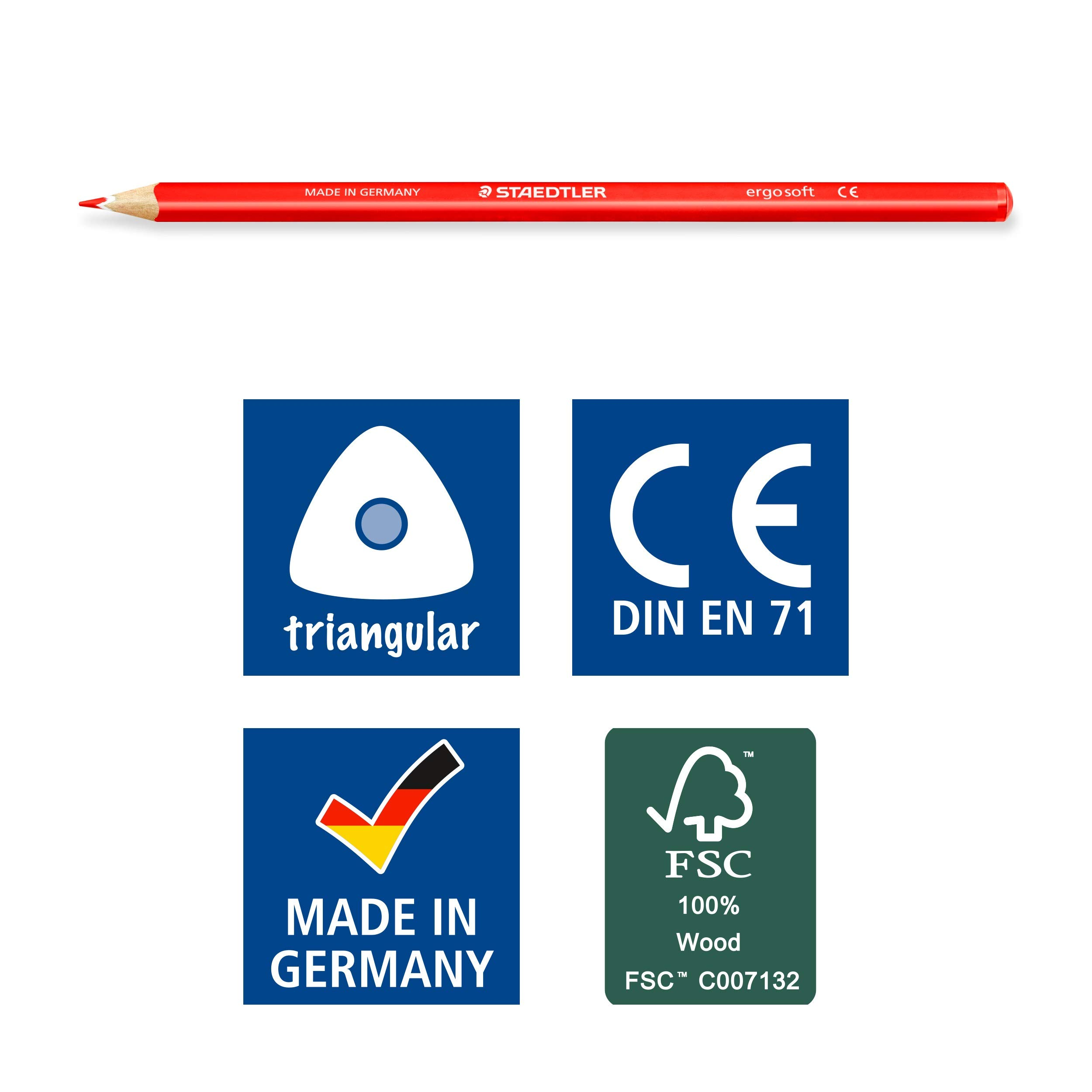 STAEDTLER 157 M36 Ergosoft Triangular Colouring Pencil, Assorted Colours, Tin of 36 by STAEDTLER (Image #6)