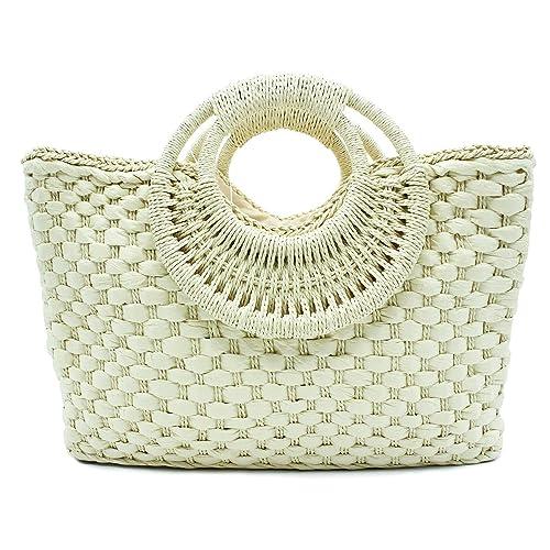 6c67c2324 MISEMIYA - Bolsos rafia para mujer bolso shopper bolso de mano SR-LL808(44