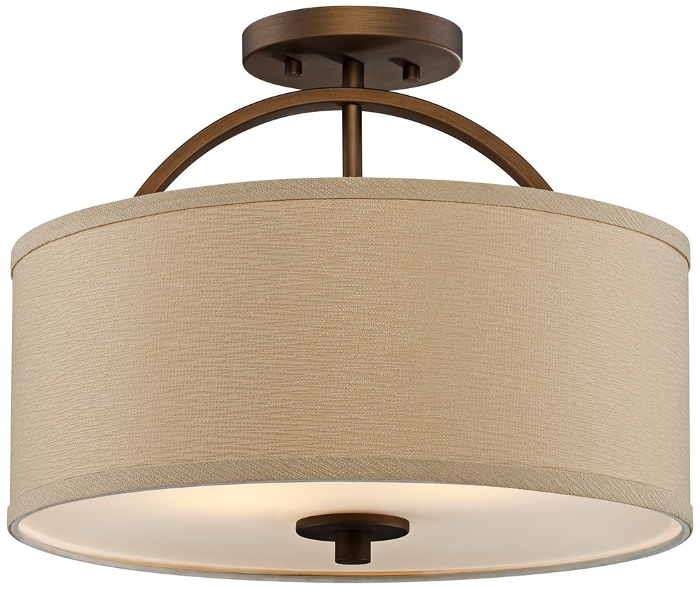 Possini euro halsted 15 wide brushed bronze ceiling light ceiling possini euro halsted 15 wide brushed bronze ceiling light ceiling pendant fixtures amazon aloadofball Image collections